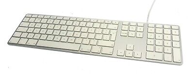 Genuine Apple A1243 USB Wired UK QWERTY LAYOUT Aluminium Keyboard • 34.99£