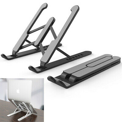 Ergonomic Laptop Stand Foldable Portable 6-Height Adjustable Riser Space-saving • 9.47£
