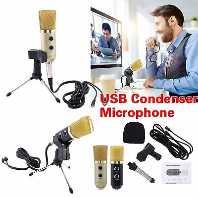 PC USB Podcast Studio Condenser Recording Microphone Vocal Singing Mic Stands UK • 7.59£