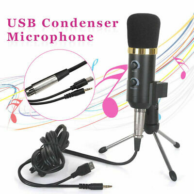 PC USB Podcast Studio Condenser Recording Microphone Vocal Singing Mic Stand ML • 7.29£