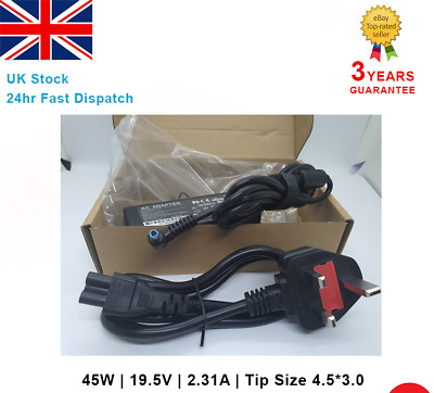 For HP Laptop Adapter Charger 740015-003 741727-001 19.5V 2.31A 45W Blue Tip UK • 14.64£