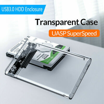 USB 3.0 To SATA Hard Drive Enclosure Caddy Case For 2.5  Inch HDD / SSD External • 5.86£