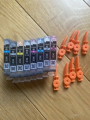 Lot 8 Virgin Empty Genuine Canon Cli-42 Inkjet Cartridges ALL CLR Used Once • 20£