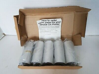 5 Rolls Of New Paper For ZX PRINTER + BOX, ZX Sinclair Spectrum • 34.99£