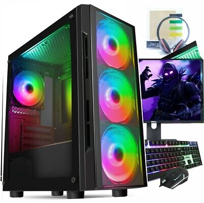 FAST Intel Quad Core I5 Gaming PC Computer 8GB RAM 1TB HDD Windows 10 GT 710 2GB • 199.99£