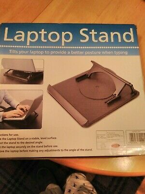 Swivel Laptop Stand Adjustable,used Twice. Plastic. Ideal For Home Or On The Go. • 1.50£