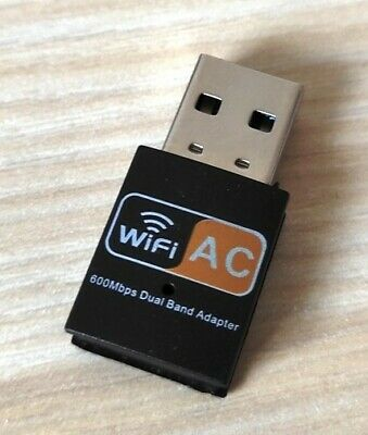 600 Mbps 2.4-5ghz USB Dual Band Wireless Adapter WiFi Dongle 802.11 AC Laptop PC • 5.98£