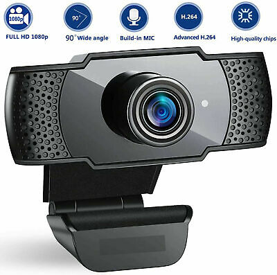 1080p Webcam With Microphone Full HD Video Camera USB For PC Desktop Laptop Mic • 12.20£