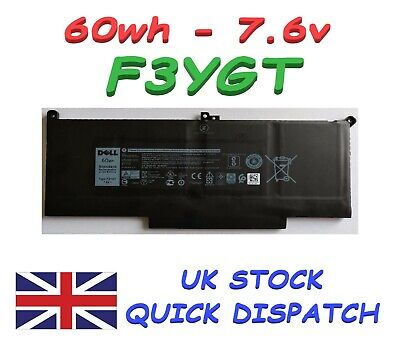 New Dell Latitude 7280 7480 Battery 60wh 7.6v F3ygt Dm3wc 2x39g Myj96 • 69.99£