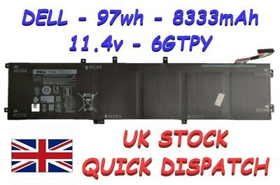 NEW DELL XPS 15 9560 9550 9570 PRECISION 15 5520 97Wh BATTERY 6GTPY GPM03 0GPM03 • 89.99£