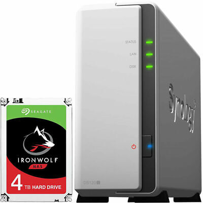 Synology DiskStation DS120J With 4TB Seagate IronWolf NAS Drive • 200£