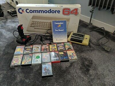 Commodore 64 Boxed With Joystick, Tape Player And Games!! • 89.99£