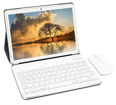 Pro Book Laptop PC Tablet 2 In 1 10  Android 9.0 HD Quad-Core 4GB RAM 64GB ROM • 149.99£