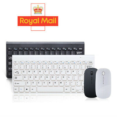 Slim 2.4GHz Cordless Wireless Keyboard And Mouse Set For PC MAC Laptop Tablet UK • 11.48£