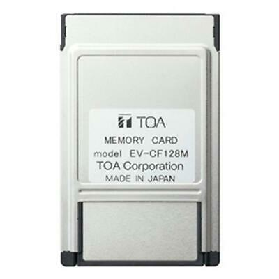 TOA Flash Card And Adapter EV-CF128M For Digital Announcements EV-200M & EV-350R • 114.95£