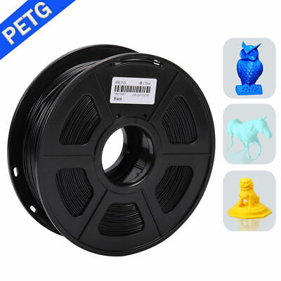 Black PETG 3D Printer Filament 1.75 Mm Spool 3D Printer Material UK Stock • 14.22£