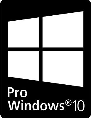 PRO WINDOWS 10 PC/LAPTOP Decals/Stickers X10 OF: PIMP YOUR COMPUTER+FREE UK P&P • 2.89£