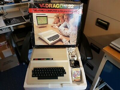 Rare Vintage Dragon 32 Computer System (mint Boxed) • 359£