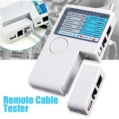 4in1 Phone Network Cable Checker LAN USB RJ45 RJ11 BNC Remote Tester UK Stock • 13.69£