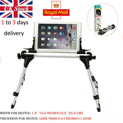 360° Adjustable Fold Lazy Bed Mount Holder Floor Stand For IPad Tablet IPhone UK • 13.99£