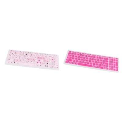 2 Pack Silicone Keyboard Protector Film For ASUS K50 A555L A556 Waterproof • 3.99£