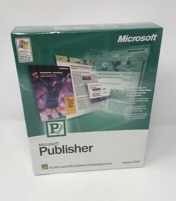 Publisher 2002 By Microsoft Software | Software | Condition New • 40£