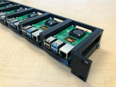 1U Rack For Raspberry Pi, 19  Rackmount Supports Upto 6 Units • 74.99£