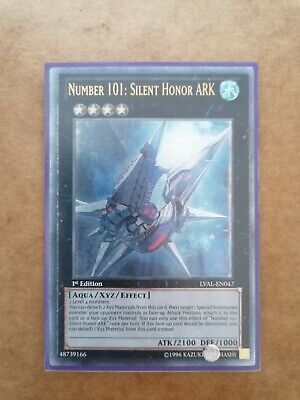 Number 101: Silent Honor ARK- LVAL- EN047- Ultimate Rare 1st Edition- Near Mint  • 19.99£
