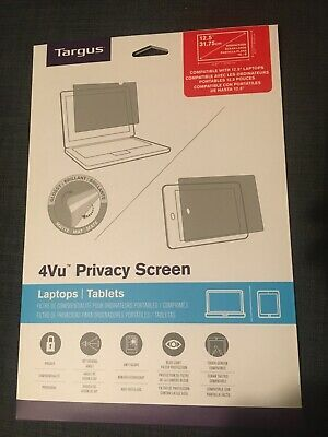"New Targus 4vu Privacy Screen For 12.5"" Laptops And Tablets Widescreen 16:9 • 12.50£"