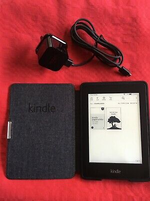 Amazon KINDLE  Paperwhite 4GB, Wi-Fi, 6in - Black - Unmarked . 7th Generation  • 1£