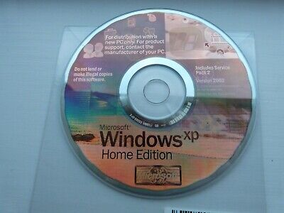 Microsoft Windows XP Home Edition Disk Including SP2 (No Product Key) • 4.20£