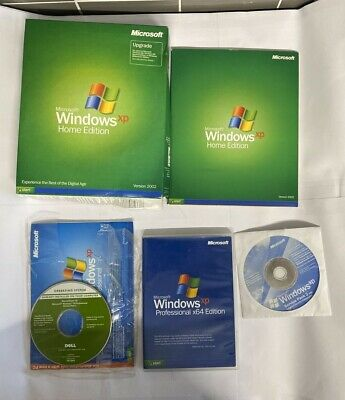 Windows XP Home Edition + Professional X64 + Dell CD And Service Pack 2 CD • 29.99£