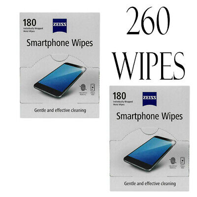 180 X ZEISS Mobile Phone Wipes Tablet Lens Glasses Individually Packed BNIB • 4.99£