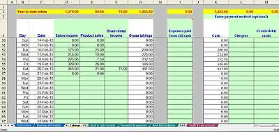 Market Stall Trader Bookkeeping Spreadsheet (non-VAT) - 2020 Year End Version • 13.99£