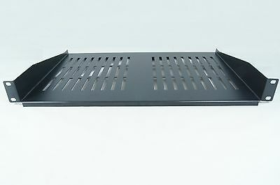 SHELF 1U 300MM DEEP BLACK FOR 19 INCH RACK  Cantilever Modem SHELF RACKMOUNT • 15.80£