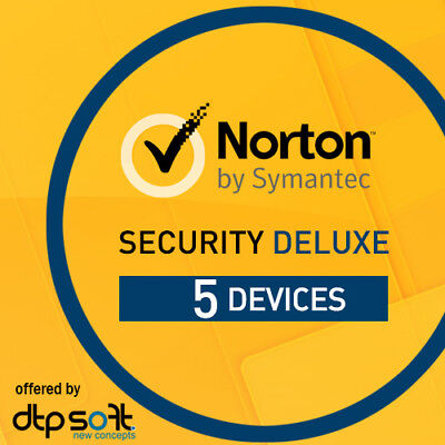 Norton Security Deluxe 2021 5 Devices 5 PC 1 Year PC MAC Internet IOS 2021 UK • 18.29£