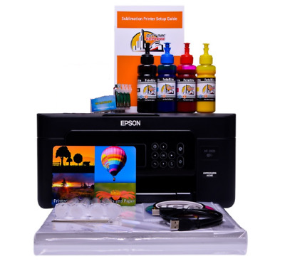 Sublimation Printer A4 Starter Bundle Package Non Oem Epson WF-2010w Dye Sub  • 219£