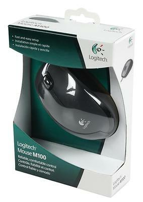 New Genuine Logitech Mouse M100 Black • 7.49£