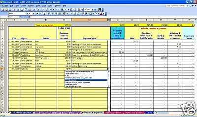 Sole Trader (non-VAT) Accounts & Tax Spreadsheet 19-20 • 13.99£
