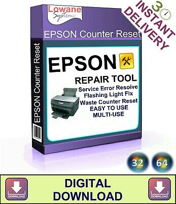 Epson Printer Waste Ink Pad Counter Reset Stylus Photo Service Digital Download • 1.49£