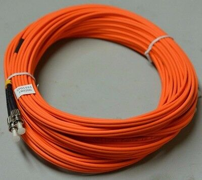 18m OM1 62.5/125 Fibre Optic ST-ST Duplex Patchlead Cable Patchcord • 4.99£