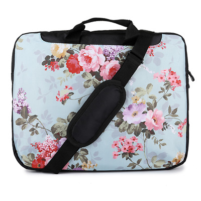 TaylorHe 15.6  Laptop Shoulder Bag With Handles Strap Vintage Beautiful Flowers • 14.95£