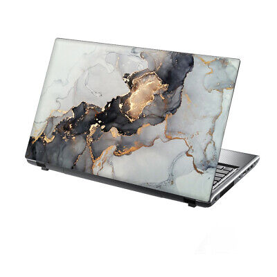 15.6  TaylorHe Laptop Vinyl Skin Sticker Decal Protection Cover Gold Foil Marble • 8.95£