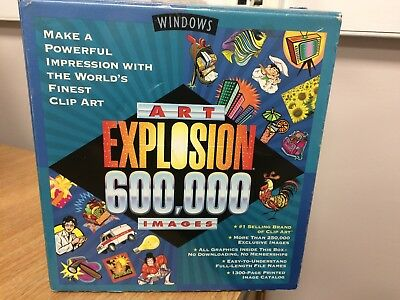 Art Explosion 600,000 For Windows (1 Disc Missing) • 15£