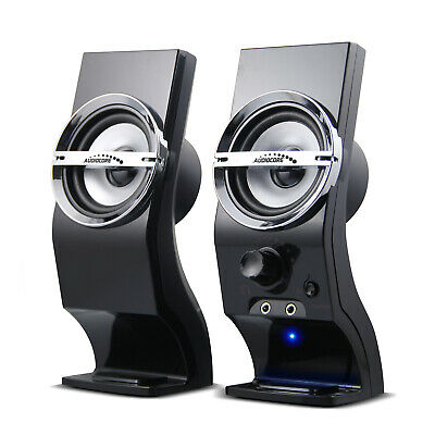 Computer PC Speakers 6W USB AUX 3.5mm Jack Stereo 2.0 System Clear Sound Solid • 12.06£