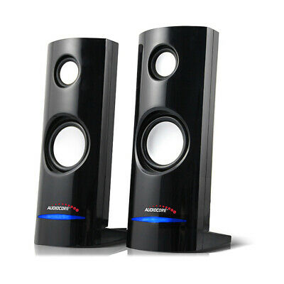 PC Computer Speakers 2.0 Stereo 8W USB 3.5 Mm Jack Desktop Laptop Clear Sound UK • 10.55£