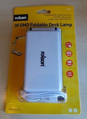 Foldable Desk Lamp.  Lightweight & Compact.  30smd - 250 Lumens.  • 7.50£