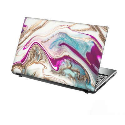 TaylorHe Laptop Skin 13-14  Vinyl Sticker Decal Pink Marble Water Abstract • 7.95£