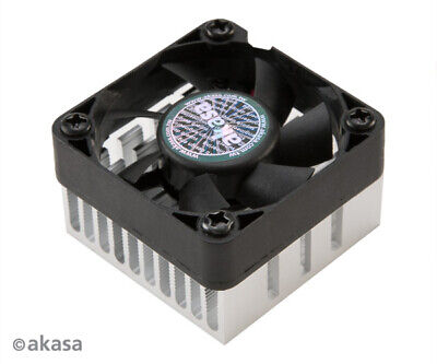 Akasa AK-210-BK Compact Low-noise Chipset Cooler 38mm X 38mm X 13mm Black • 8.35£
