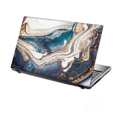 TaylorHe Laptop Skin 13-14  Vinyl Sticker Decal Cover Abstract Blue White Marble • 7.95£